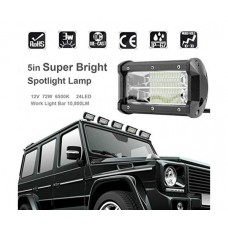 Супер Ярка Бяла Прожекторна LED Лампа за Офроуд Камион, Автомобил, Лодка, 72W 6500K 24LED