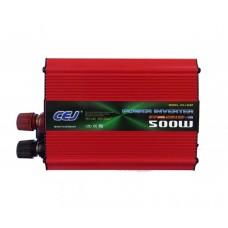 Висококачествен Инвертор на напрежение CEJ 12V - 220V 500W