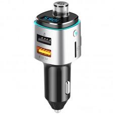 Автомобилен FM трансмитер с USB зарядно за GSM Voice Kraft VK 42, Bluetooth, Quick Charge 3.0