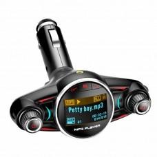 Автомобилен FM трансмитер с USB зарядно за GSM Smart Technology BT08, Bluetooth