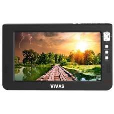 "10"" портативен телевизор Vivas TV10, 10 инча, 12/220V, Цифров тунер DVB-T2, Мултимедия, Акумулаторна батерия"
