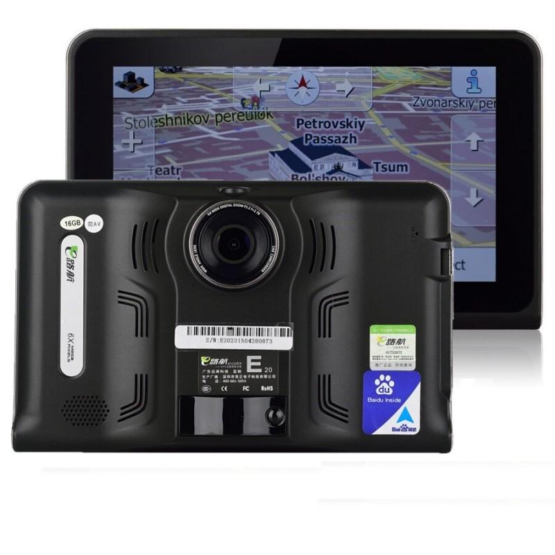 "GPS навигация за кола и камион с Вграден Видеорегистратор Vivas 7055 EU, 7"", Android, Cam, BT, AVIn, WiFi"