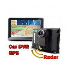 "GPS навигация за кола и камион с Вграден Видеорегистратор и Радар Детектор Vivas 7057 EU, 7"", Android, Cam, BT, AVIn, WiFi"