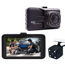 Авто видеорегистратор Smart Technology Dual Lens Cam, 2 камери, Full HD