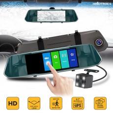 """Огледало за кола с вграден видеорегистратор, 6,3"""", Full HD, Тъч контрол, Камера задно виждане"""