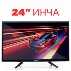 Портативен 24 инчов телевизор Yumatu Onix, 1080P, Сателитен тунер